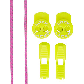 Lock Laces Run Reflective pink